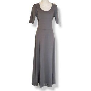 LuLaRoe Ana Maxi Dress, Gray, Medium